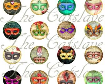 "Mask Magnets, Mask Pins, Drama, Wedding Favors, Wedding Pins, Mardi Gras Pins, 1"" FB. HB, Cabs, 12 ct"
