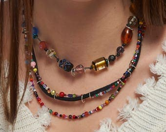 Happy layered necklace