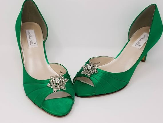 Emerald Green Bridal Shoes Emerald Green Wedding Shoes with