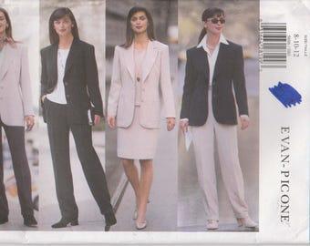 Wardrobe Pattern Pants Jacket Skirt Top Suit Misses Size 8 - 10 - 12 Uncut Butterick 5696