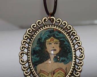 DC Wonder Woman Gal Gadot Bronze Necklace