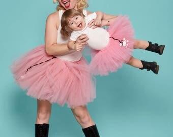Pink Poodle Skirt Tutu | Pink Tutu | 50s | Sockhop | Mommy and Me Tutus | Halloween Costume | Survivor | Gilmore Girls | Jessica Sugar Kiper