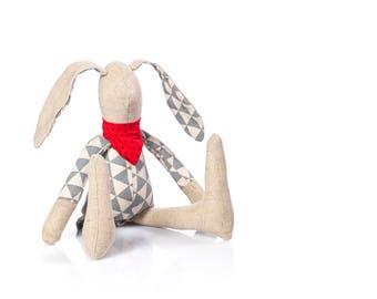 Fabric Doll , Soft Toy , Baby bunny doll , stuffed animal toy , SMALL rabbit doll , Cloth Bunny , RagDoll  , Plushie Softie , Doll Cuddling