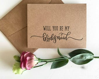 Bridesmaid Proposal, Will You Be My Bridesmaid Card,  Will You Be My Bridesmaid, Bridesmaid Card, Bridesmaid Gift, Rustic Wedding Party Gift