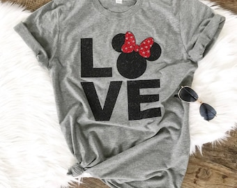 Mouse Love - Vacation Shirt - Family Trip Tee - Glitter T-Shirt