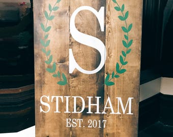 Last Name Wood Sign, Wedding Decor Wood Sign, Name Sign, Farmhouse Wood Sign, Farmhouse Decor, Rustic Wedding, Rustic Wood Sign, Gallery