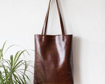 Back To School SALE Luxury Brown Leather Tote bag No.Tl- 17002