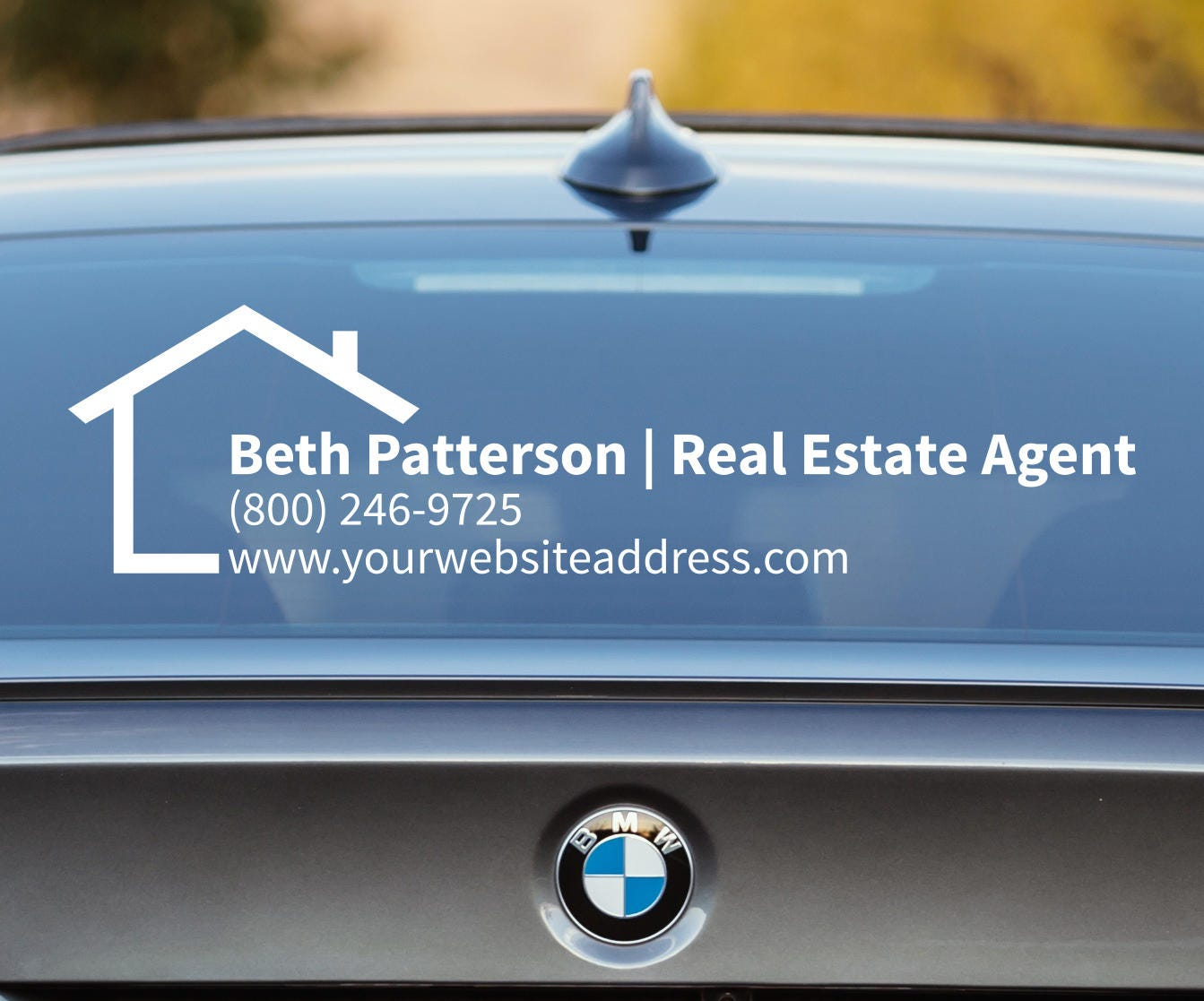 Real Estate Decal Real Estate Car Decal Real Estate Agent - Custom car window decals business