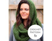 CROCHET PATTERN -Soft & Cozy Infinity Scarf Crochet Pattern- Instant Download- PDF File