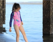 High Tide Surfsuit Sewing Pattern/ Baby Swimsuit Pattern/ Girls Swimsuit Pattern/ Rash Guard Sewing Pattern