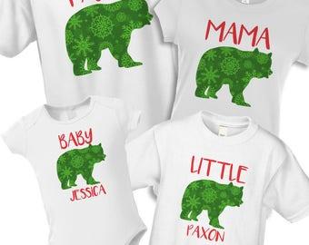 Big Brother Big Sister Christmas Pajama Shirts By