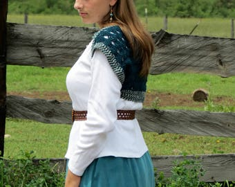 Crochet Pattern PDF for Lace Shoulder Shrug, Cocoon, for Layering, Shell Stitch with Tapestry Edging