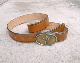Vintage Womens Size 28 Small Medium LEVIS Saddleman Leather Belt Brown High Wasted Thick Boho Country Western Southwestern Hipster Cowboy
