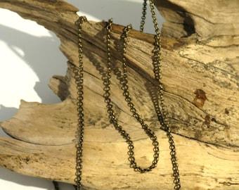 Brass Chain - Rollo Chain - Antique Brass - 3mm - 3 Feet
