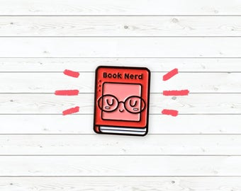 Enamel Pin : Book Nerd