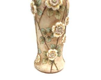 Turn Teplitz Imperial Amphora Rose Vase 1910s