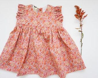 The Nora Dress, Baby Floral Dress, Flutter sleeve Dress,