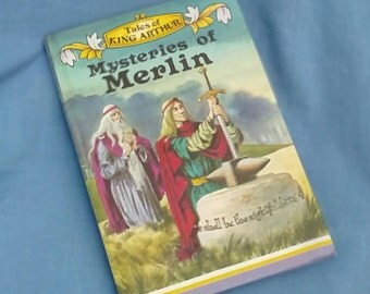 Mysteries of Merlin - Vintage Ladybird Classics Book Series 740 - Matt Covers 24p - 1970s Edition