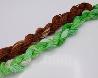 Mini Skein Sets, Starbucks Inspired Cuppa Coffee  - 20 yards each, total 40 yards a set / 18 g/ 0.6 oz - Sock Weight