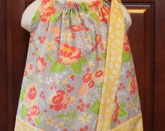 Floral pillowcase dress size 12 month dress, size 4 swing top