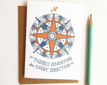 Adventure in Every Direction Compass Card