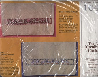 Teddy Towels Counted Cross-Stitch Kit