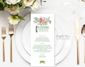 Menu Cards - Country Charm (Style 13505)