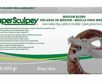 1 Lb. - Super Sculpey Medium (Gray)