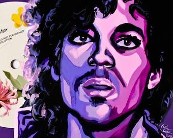 Prince Purple Rain Art Print- matted 5x7