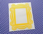 FRIENDS peephole door decor - Yellow Frame INDOOR vinyl decal - Interior Decor - Friends-inspired, spyhole, Friends decal