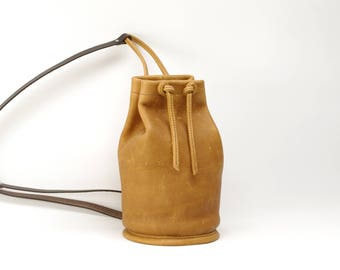 Small Saddle Tan Leather Sack Pack - CLEARANCE