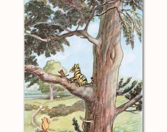 Nursery Wall Decor Boy (Classic Pooh Nursery Print, Baby Girl Gift, Winnie the Pooh)