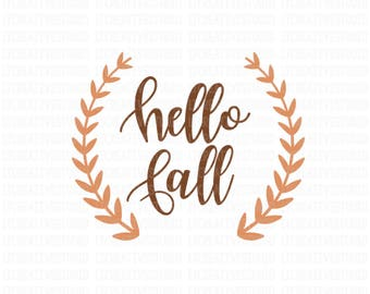 Hello Fall SVG, Fall SVG, Fall Cutting Files, Thanksgiving Svg, Svg Files, Cricut Cut Files, Silhouette Cut Files