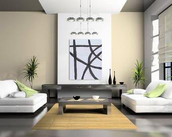 Black Abstract Art, Black White Modern Art, Black White Minimalist Art, Black Abstract Wall Art, Black Contemporary Art, Brush Stroke Art