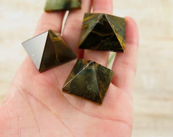 Tigers Eye Crystal Pyramid