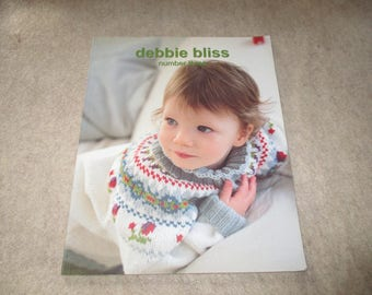 Debbie Bliss Number Three Knit Knitting Book Twelve Designs For Home and Family Knitter Pattern
