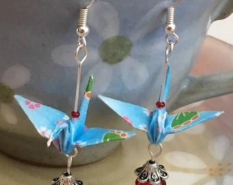Paper crane earring | Etsy - photo#25