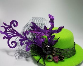 Eye of Spider Mini Top Hat Halloween Fascinator