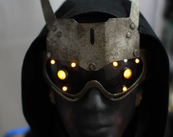 Hivemind v.2.9 Dystopian Cyberpunk distressed light up costume future goggles - Ready to ship.