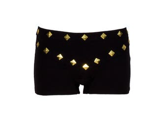 Low Stella Studded Shorts in Black