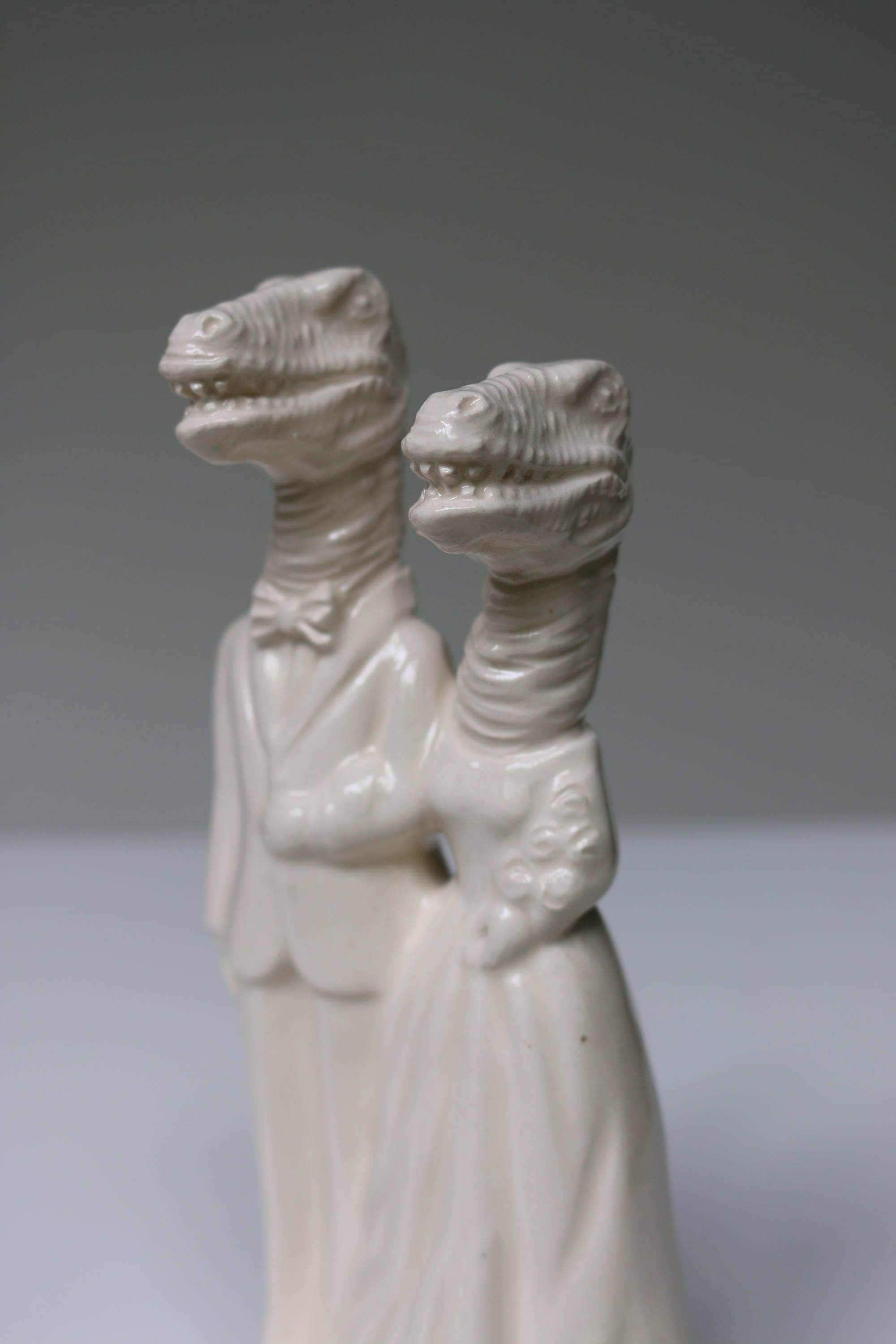 personalised ceramic wedding cake toppers dinosaur handmade ceramic wedding cake topper 18209