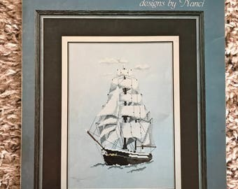Under Sail Cross Stitch Pattern, 1982
