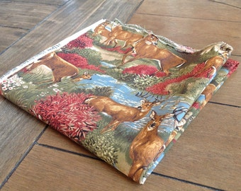 """VIP Fabrics Cabin By The Lake with Stag Unique Fabric 38"""" by 37"""""""