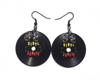 Mini Vinyl Record Earrings (Choose Style)