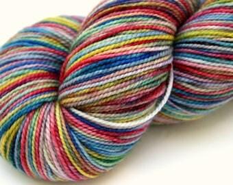 "Kettle Dyed Sock Yarn, Superwash Merino/Nyon Fingering Weight, in ""Watercolors"""