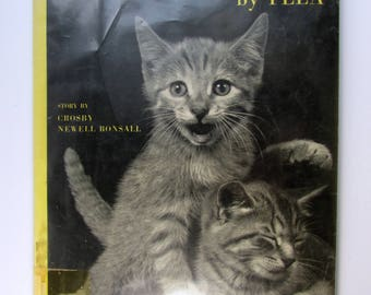 Listen, Listen!, Hardcover Book, Childrens Book, Written and Illustrated by YLLA, Photographic Illustrations of Kittens, Vintage, 1961