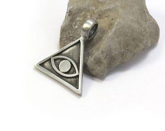 All Seeing Eye Pendant, Illuminati Eye and Pyramid Pendant