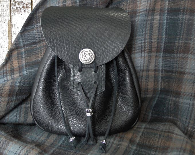 Sporran Bag, Leather Pouch - Scottish Medieval Renaissance - THE HIGHLANDER Deluxe