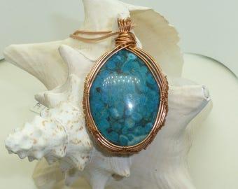 Blue Medicine Stone Necklace