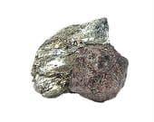 Garnet Crystal Red Almandine Mica Schist Rock Matrix Raw Gemstone Mineral Specimen mined in Quebec